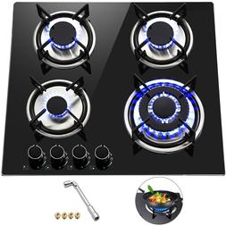 Tempered Glass 4 Burners Stove Gas Cooktop Built-In Stove Fo
