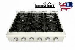 Thor Pro 36'' Gas Rangetop Oven Stove top with 6 Burner Stai
