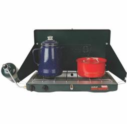 Two Burner Propane Gas Stove Portable RV Camping Indoor Outd
